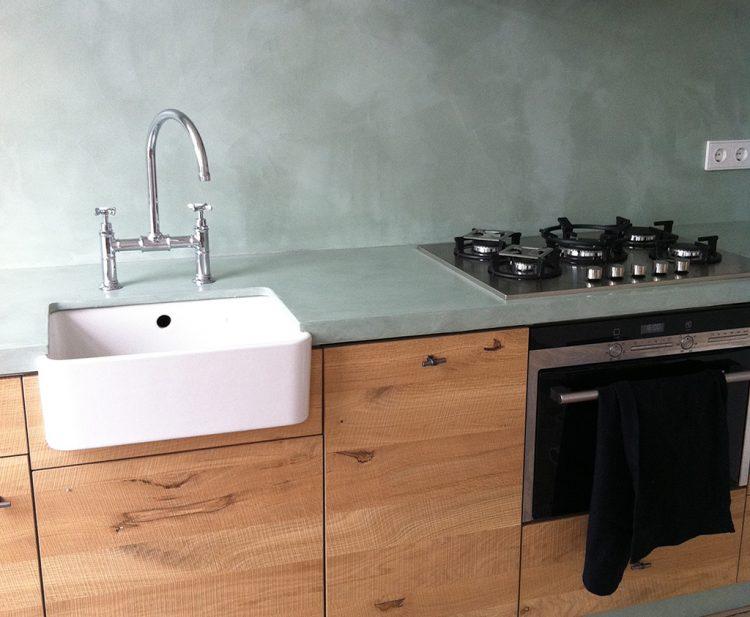 Beton Cire Keuken : Achterwand keuken met betonlook betonstuc beton ciré werkspot